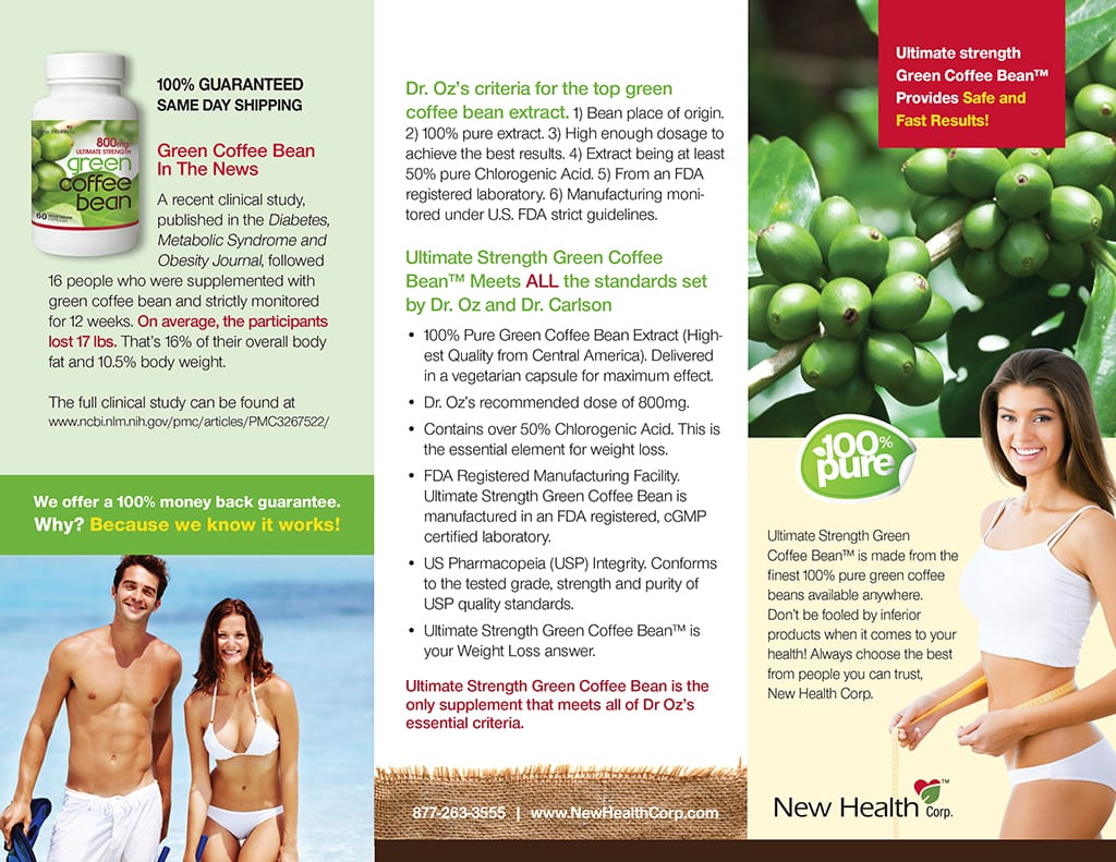 New Health Green Coffee Bean Brochure Mazzuki Media